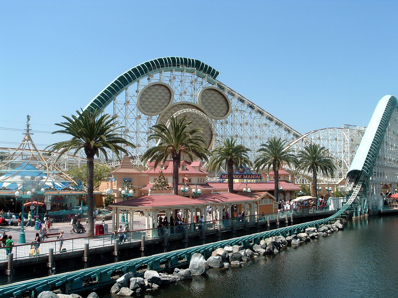 roller coaster california screamin blast music ride