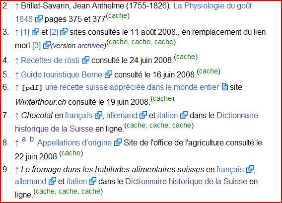 cache sur les liens externes de Wikipedia
