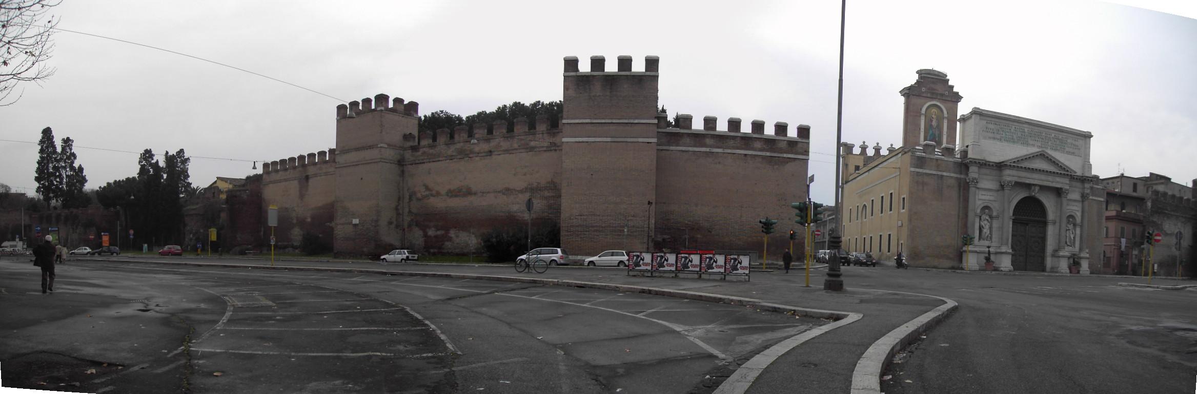File castro pretorio le mura a porta pia 1849 jpg for Affitto appartamento castro pretorio roma