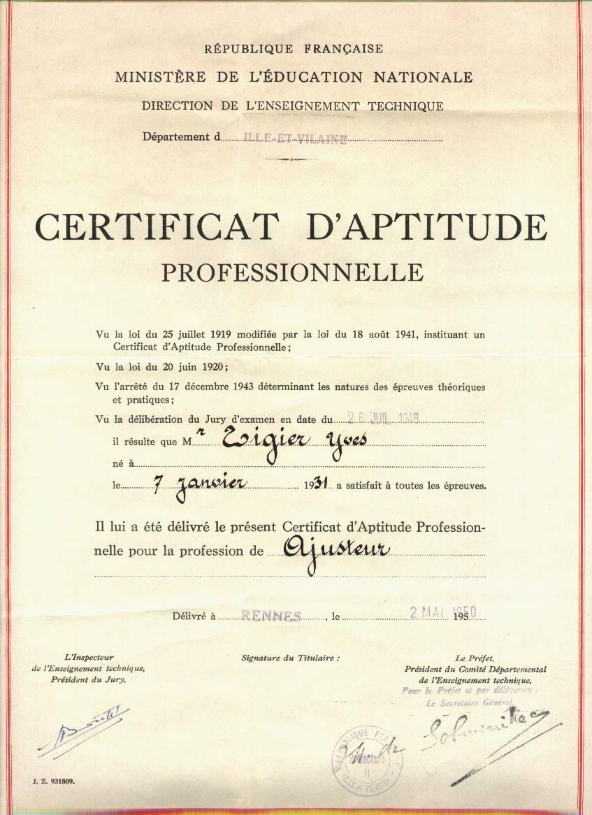Certificat d 39 aptitude professionnelle wikip dia - Brevet professionnel cuisine ...