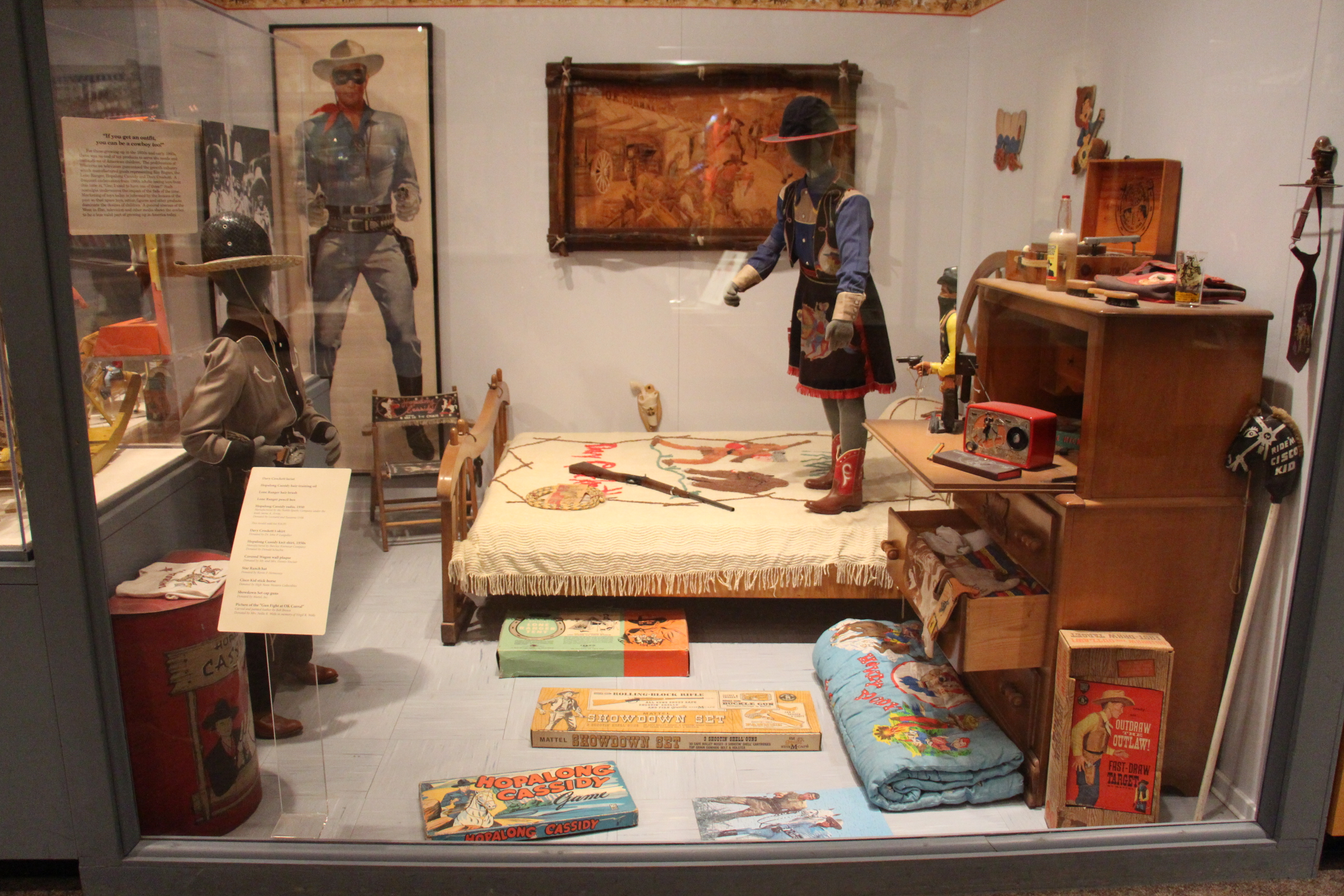 File:Children\'s American Western toys and collectibles at the Autry ...