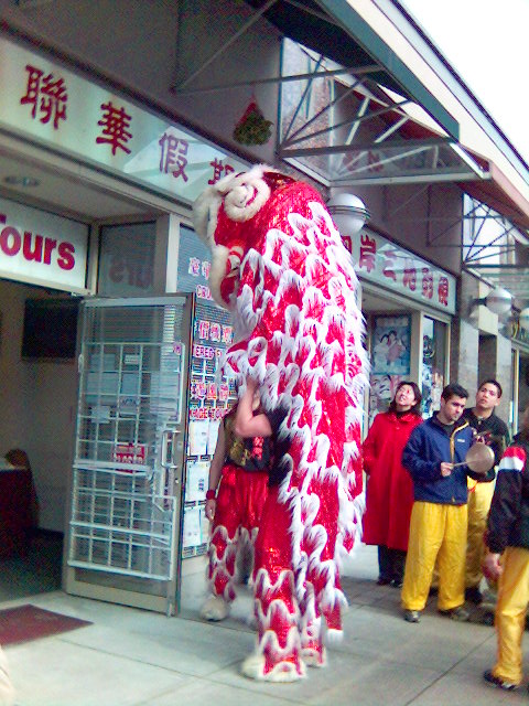 Chinese New Year's celebrations on the eighth day in the Metro Vancouver suburb of Richmond, British Columbia, Canada.
