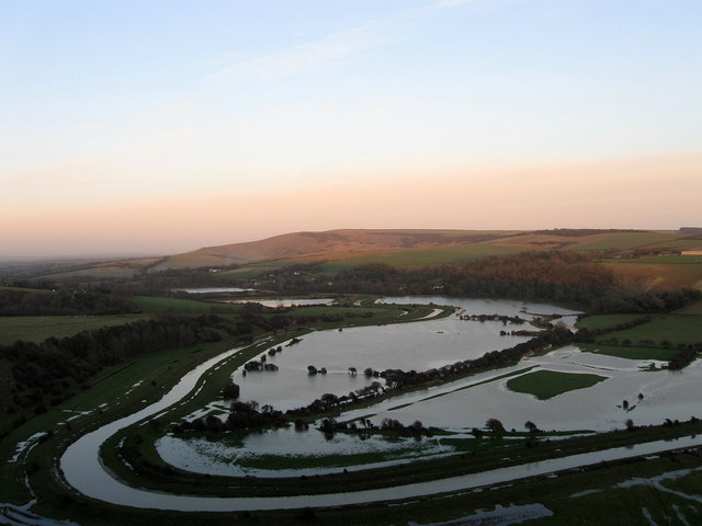 Cuckmere Flood Plain - geograph.org.uk - 1135423