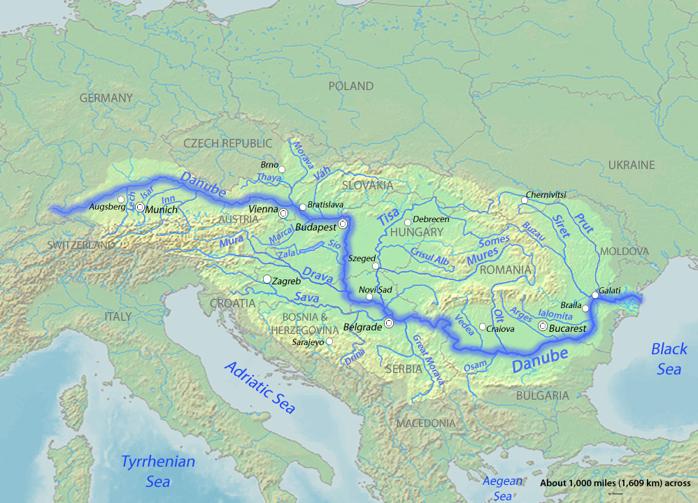 Danube River Map File:Danubemap.   Wikimedia Commons Danube River Map