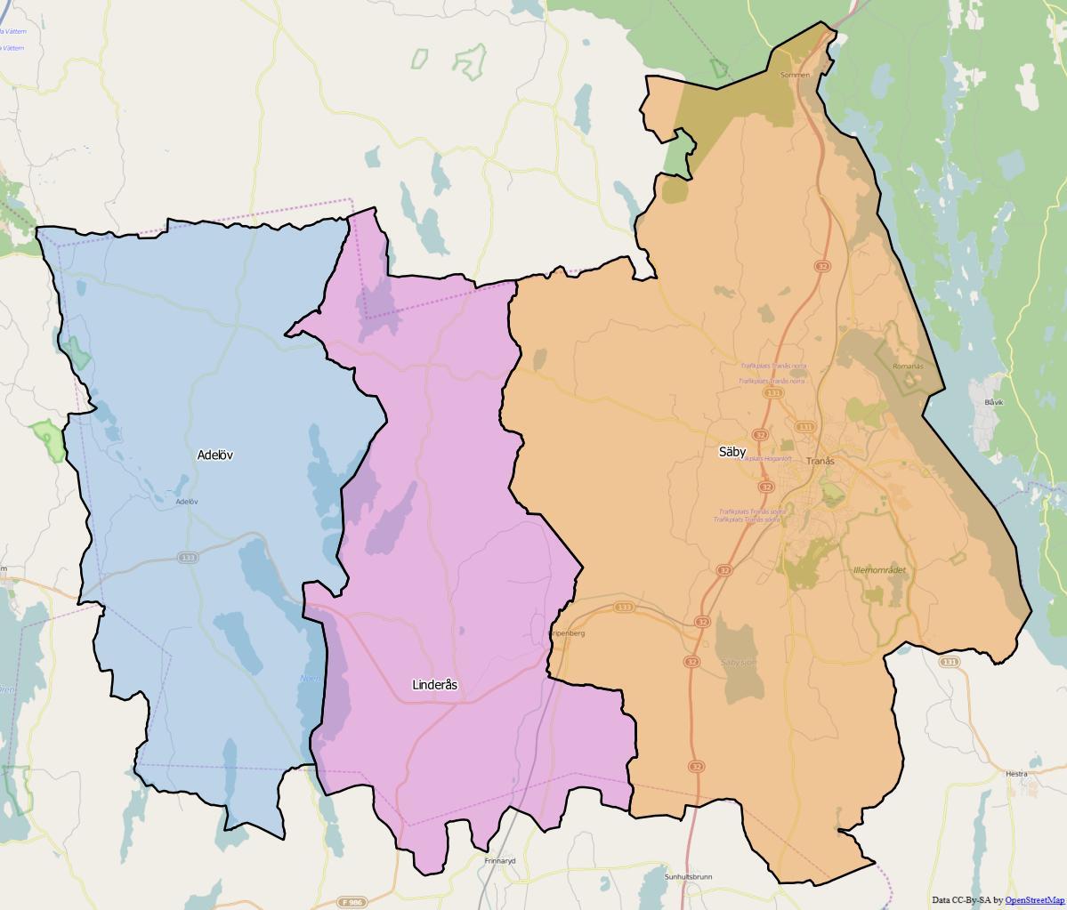 Tranås Kommun: Säby Distrikt, Småland