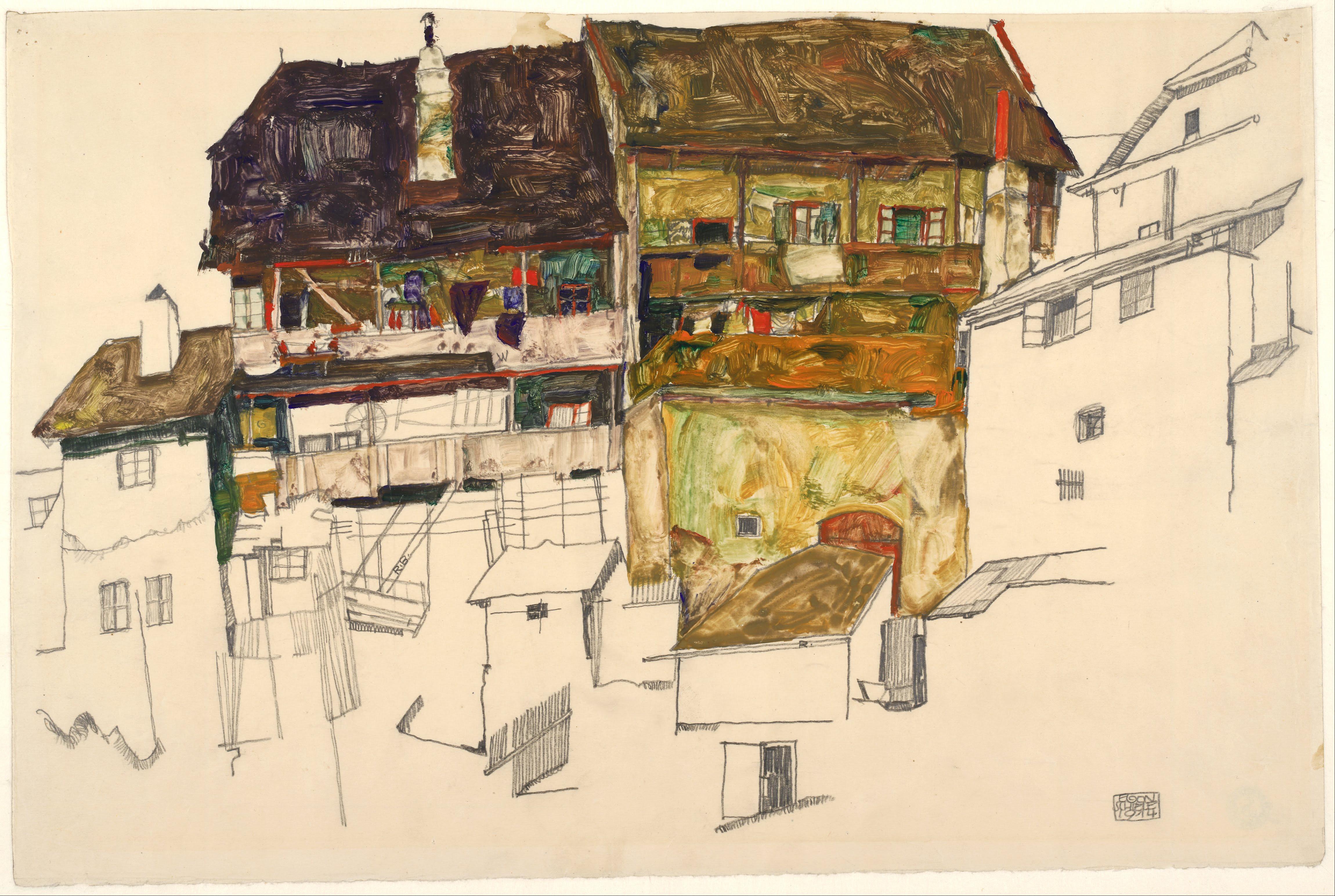 Fine Art Print Egon Schiele Reproductions Egon Schiele 1914