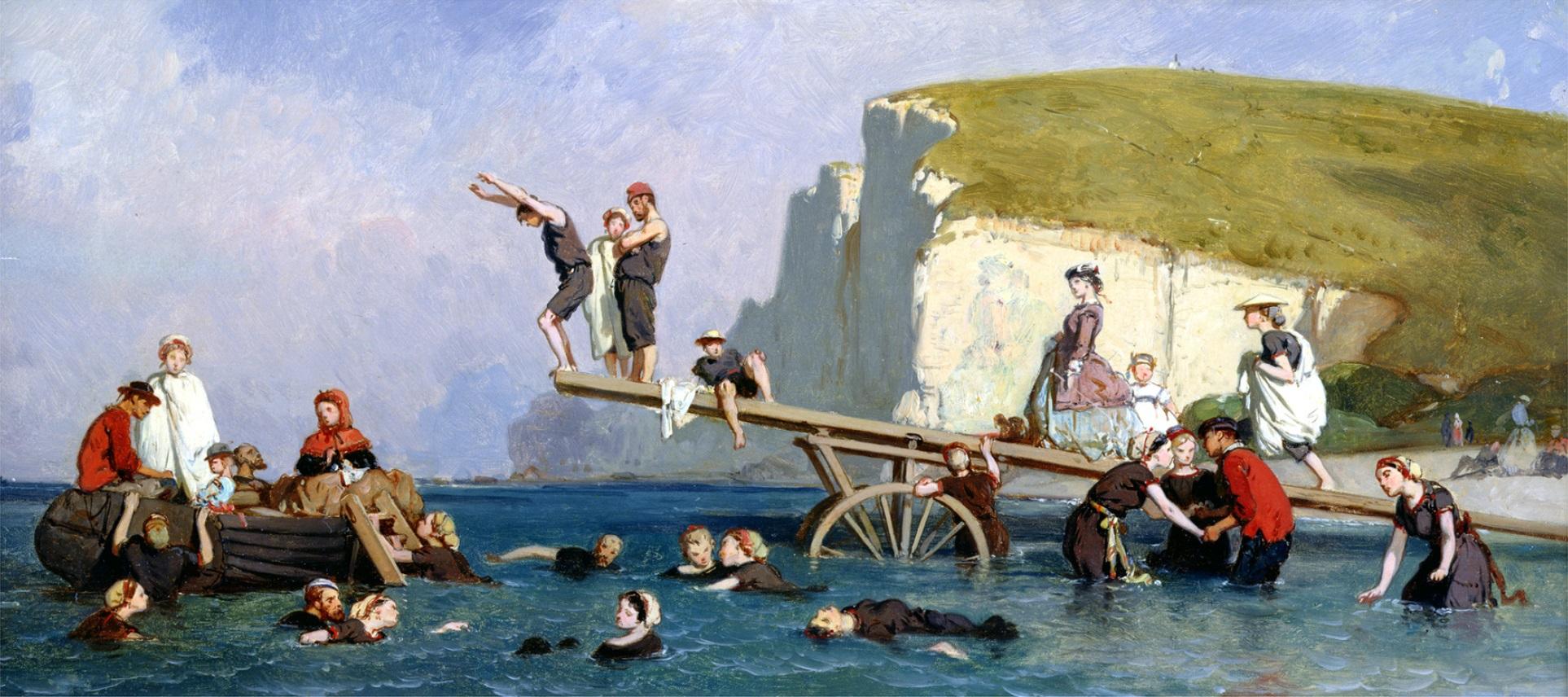 Fichier:Eugène Lepoittevin - Baignade à Étretat.jpg — Wikipédia
