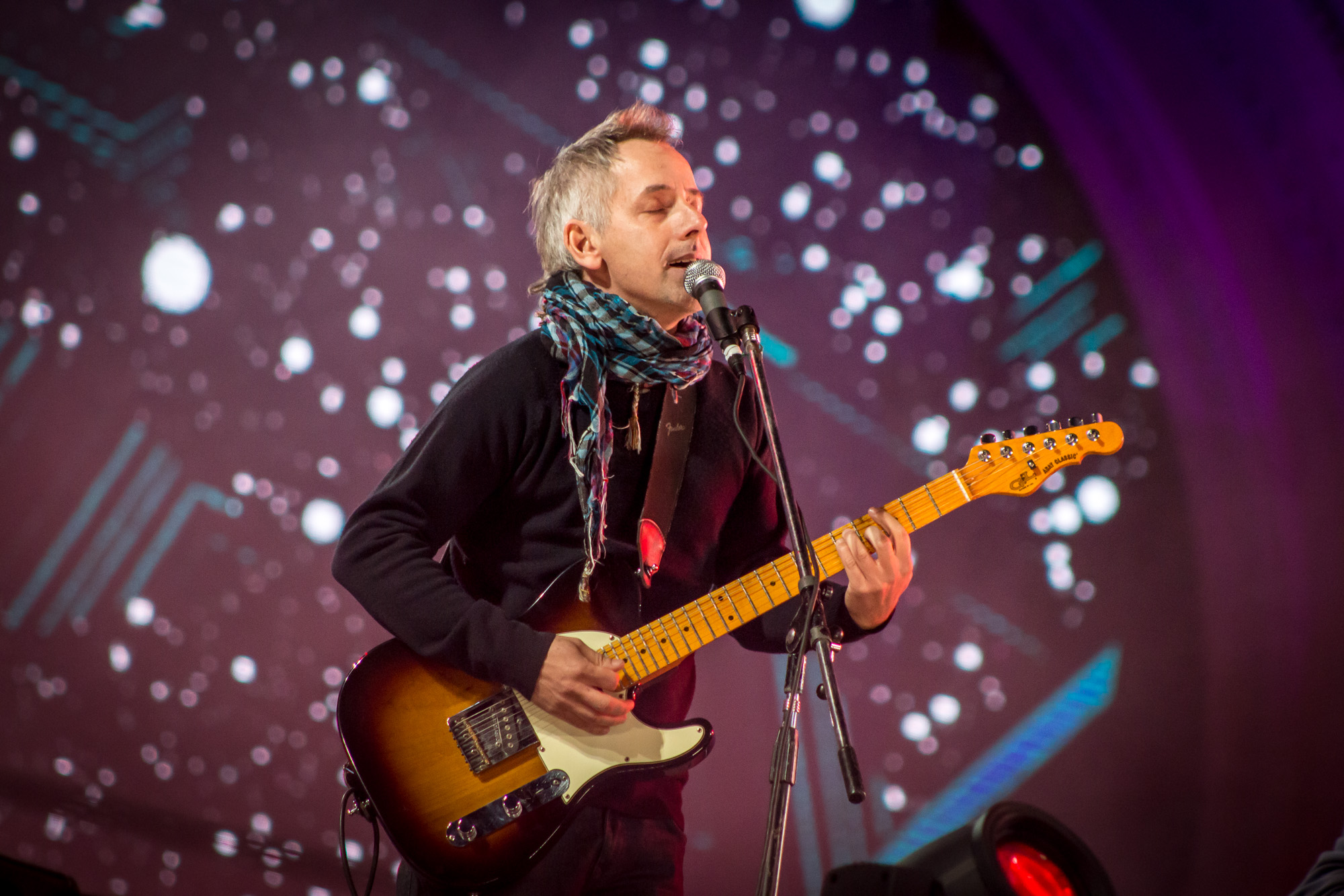 Ezequiel Jusid, guitarrista y vocalista del grupo.