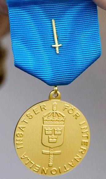 Swedish Armed Forces International Service Medal of Reward
