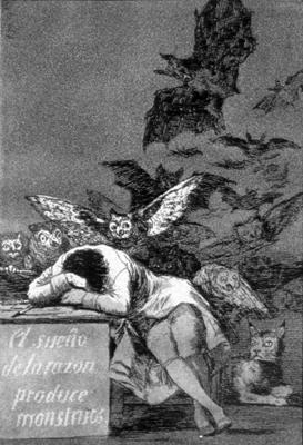 The Sleep of Reason Produces Monsters (etching...
