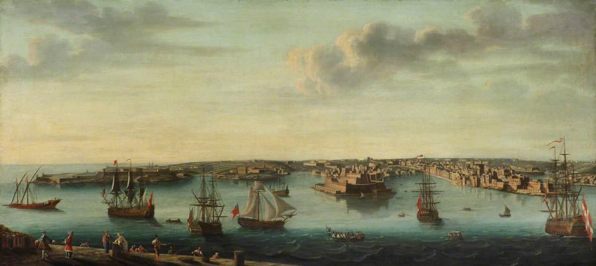 Гаспаре Ванвителли (1653-1736) (последователь) - Судоходство с Мальты - BHC1891 - Royal Museums Greenwich.jpg