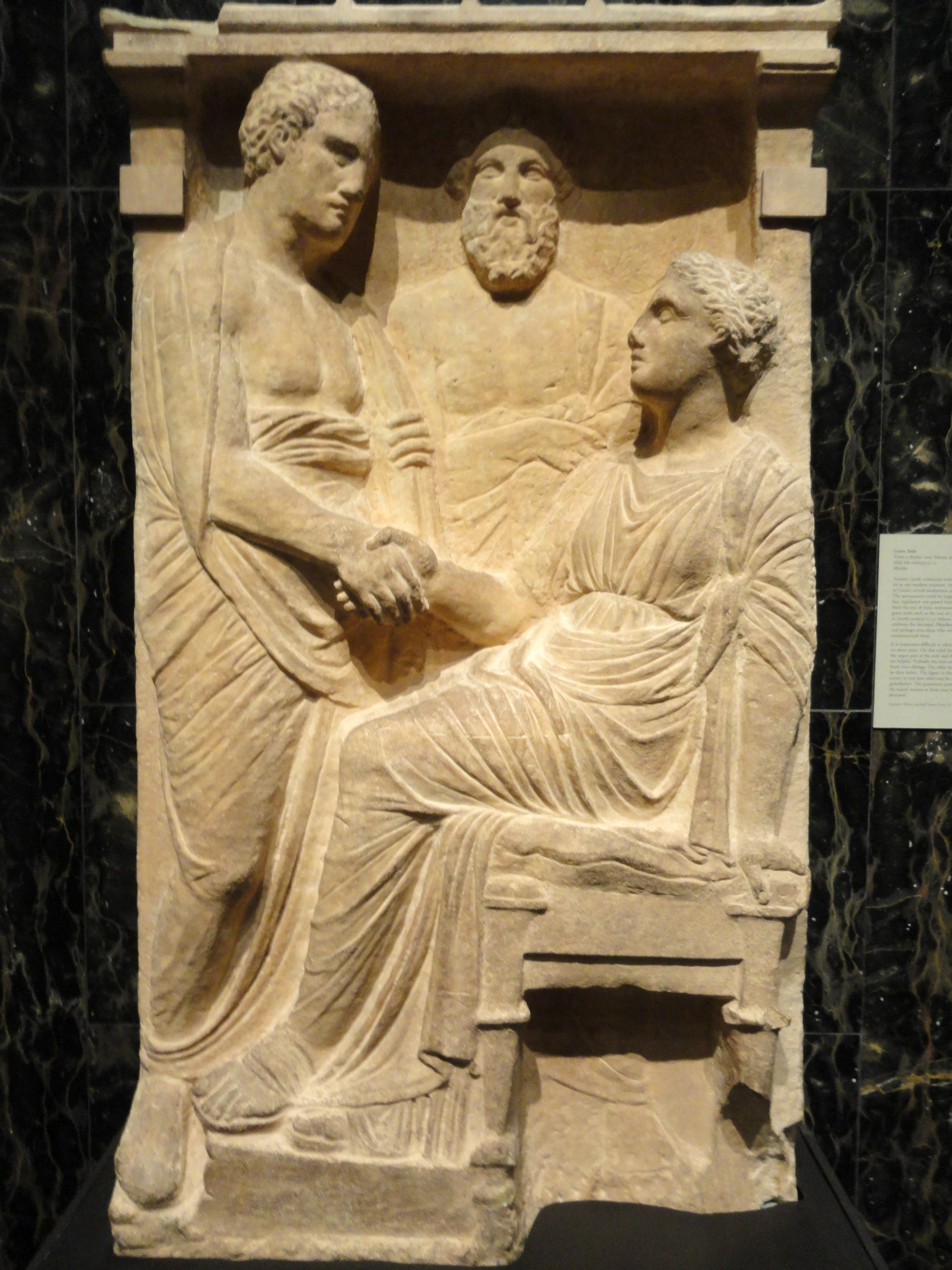 File grave stele marble from district near athens for Graue stuhle