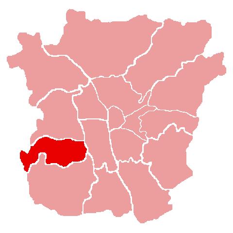 Lage des Bezirks Wetzelsdorf