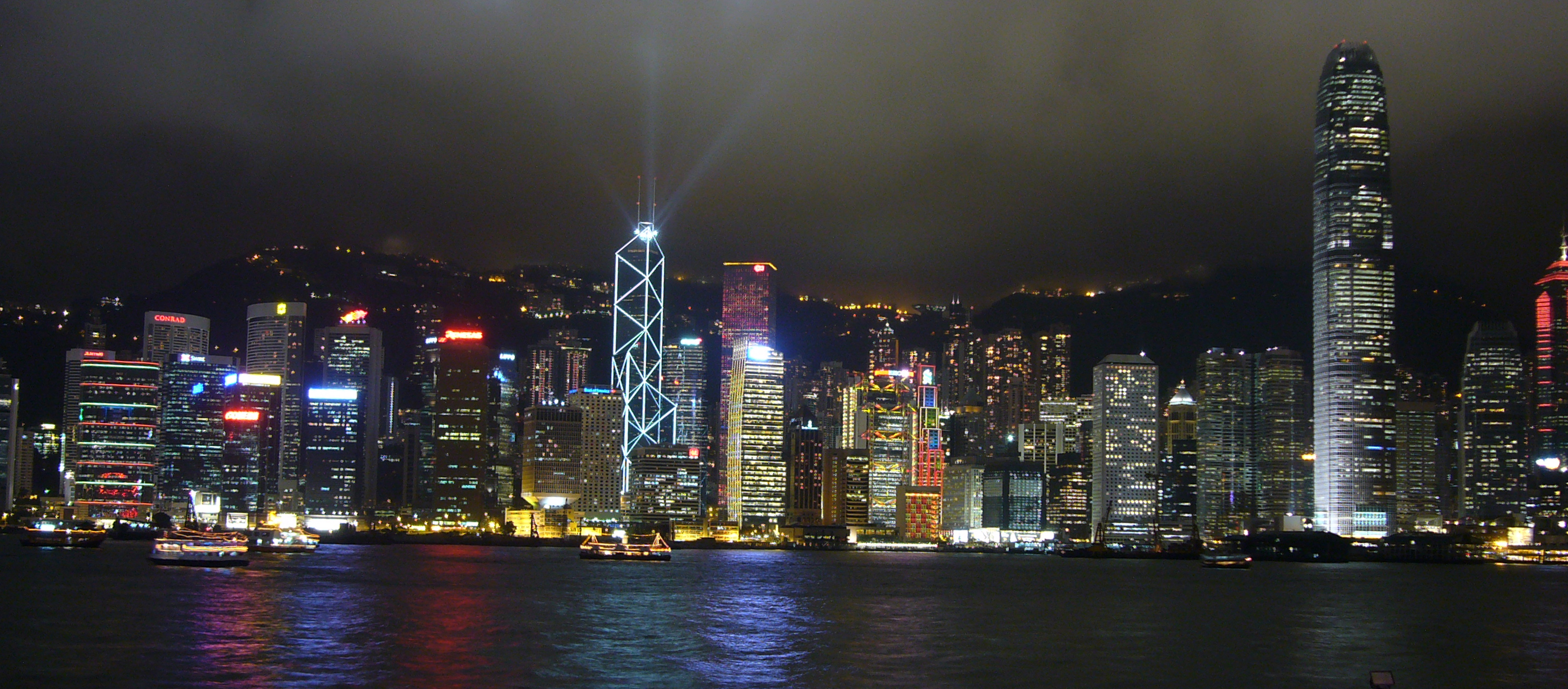 Hong Kong Hong Kong  city photos : Hong Kong Skyline Night wallpaper 40826