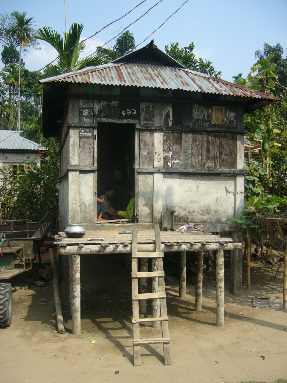 file house of khasia tribe in jaflong sylhet bangladesh 06