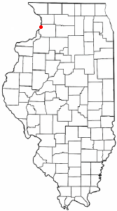 Location of Fulton, Illinois