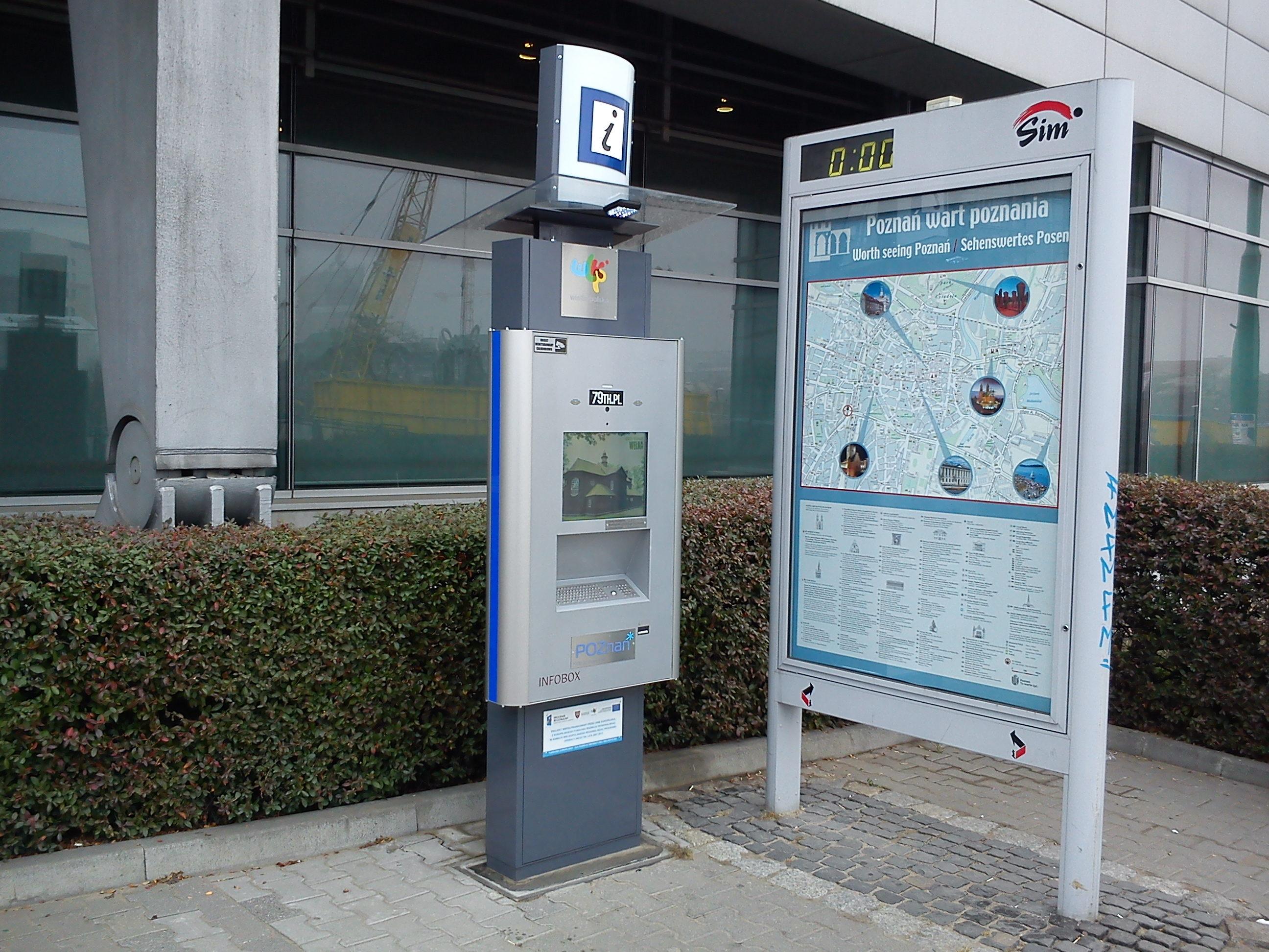 Przykładowy infokiosk w Poznaniu