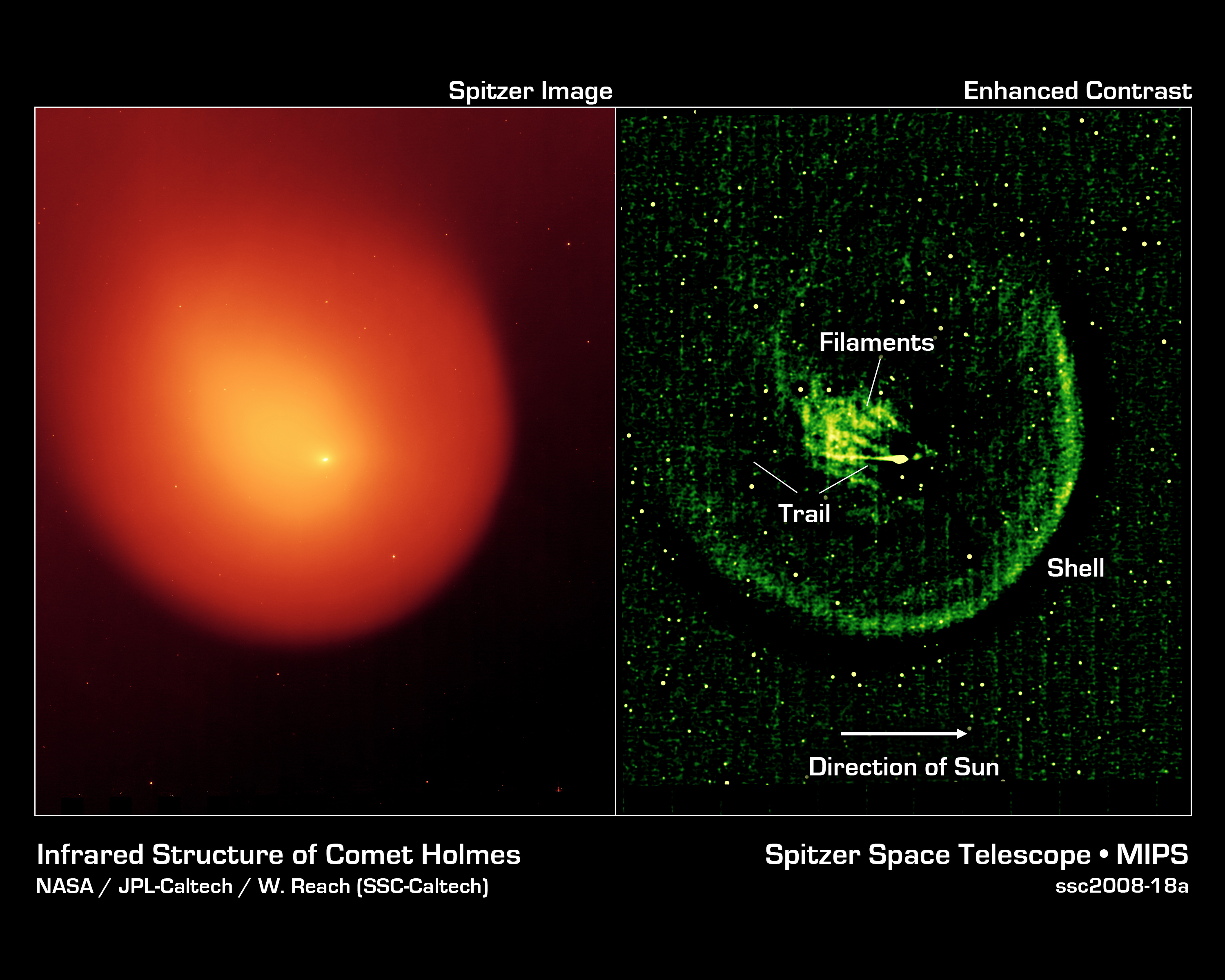 Structure of Comet Holmes in infrared, as seen by an infrared space telescope - NASA/JPL - Wikimedia Commons