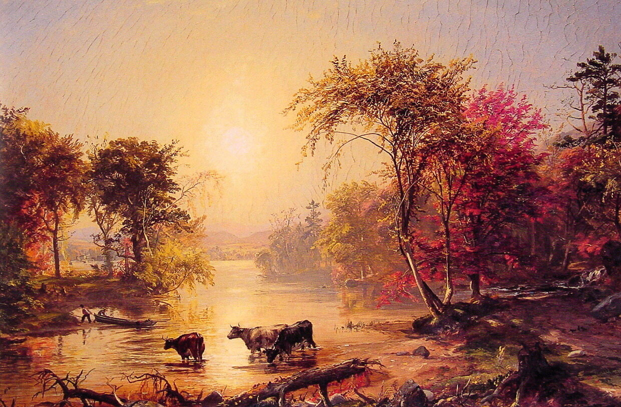 jasper f cropsey s american harvesting Autumn - on the hudson river 1860 oil on canvas cropsey's painting is more a celebration of american nationalism william s jasper f cropsey 1823-1900.