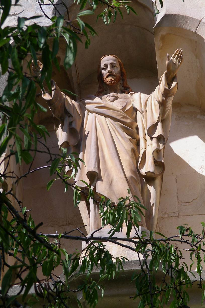 Sauneiere's Sacred Heart statue in Rennes le Chateau