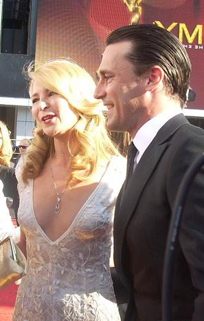 John Hamm with his companion Jennifer Westfeld...