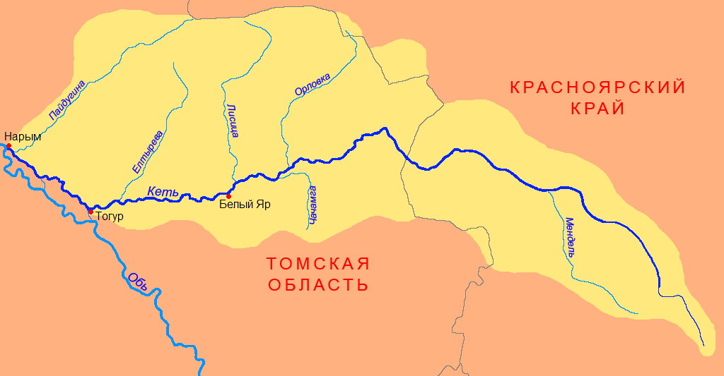Схема реки с бассейном