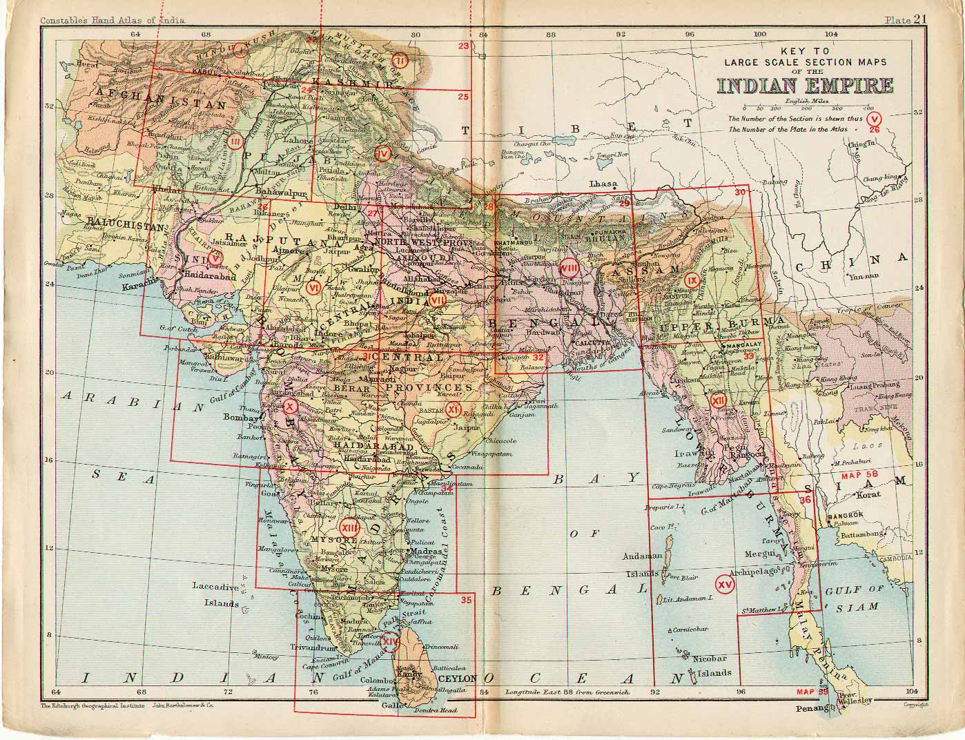 File:Key to Section maps, plates 22 to 36, of the Indian Empire ...
