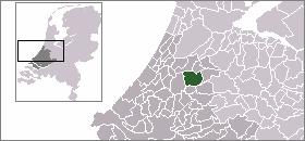 Location of Alphen aan den Rijn