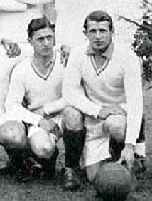 Lucien Laurent och Marcel Langiller under VM 1930
