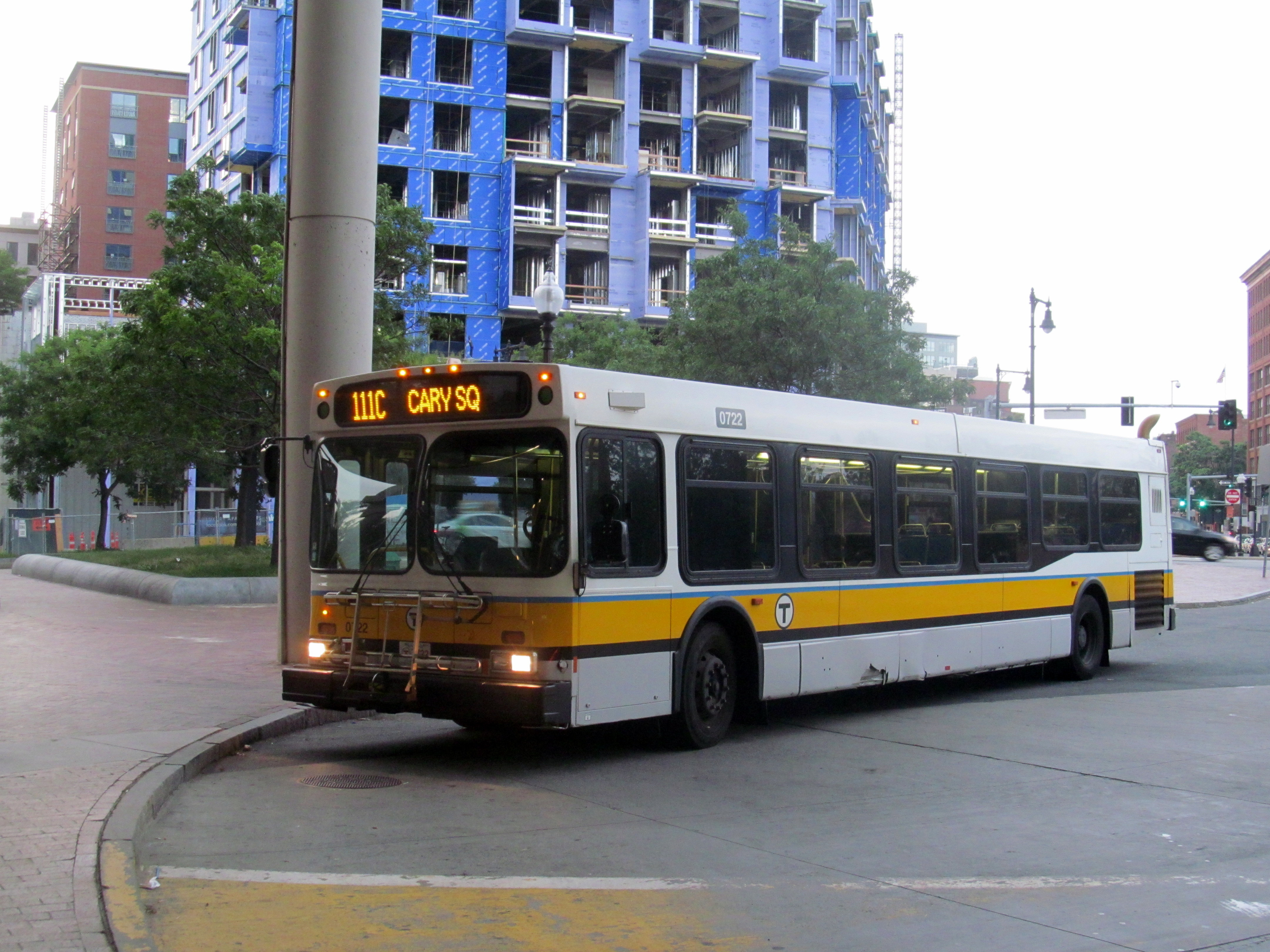 File Mbta Route 111c Bus At Haymarket July 2015 Jpg