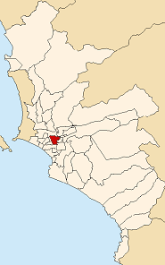 Location of La Victoria in the Lima province