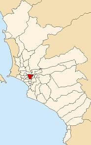 Расположение Ла Виктория в провинции Лима