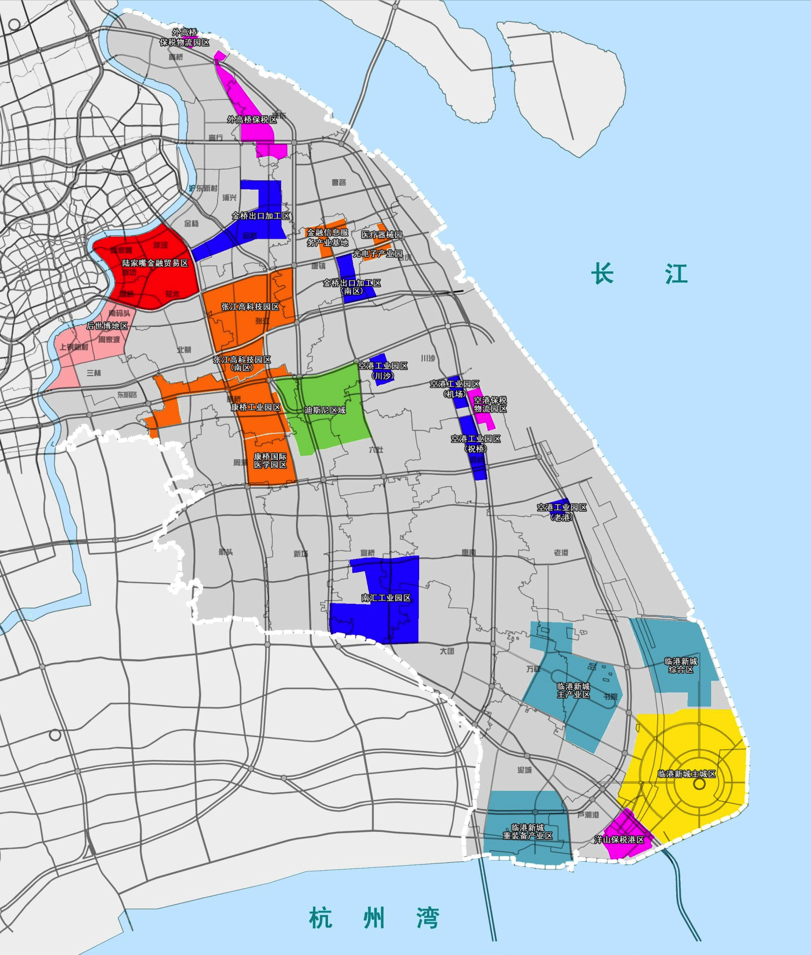 Pudong Shanghai Map File:Map of Shanghai Pudong New District.png   Wikimedia Commons
