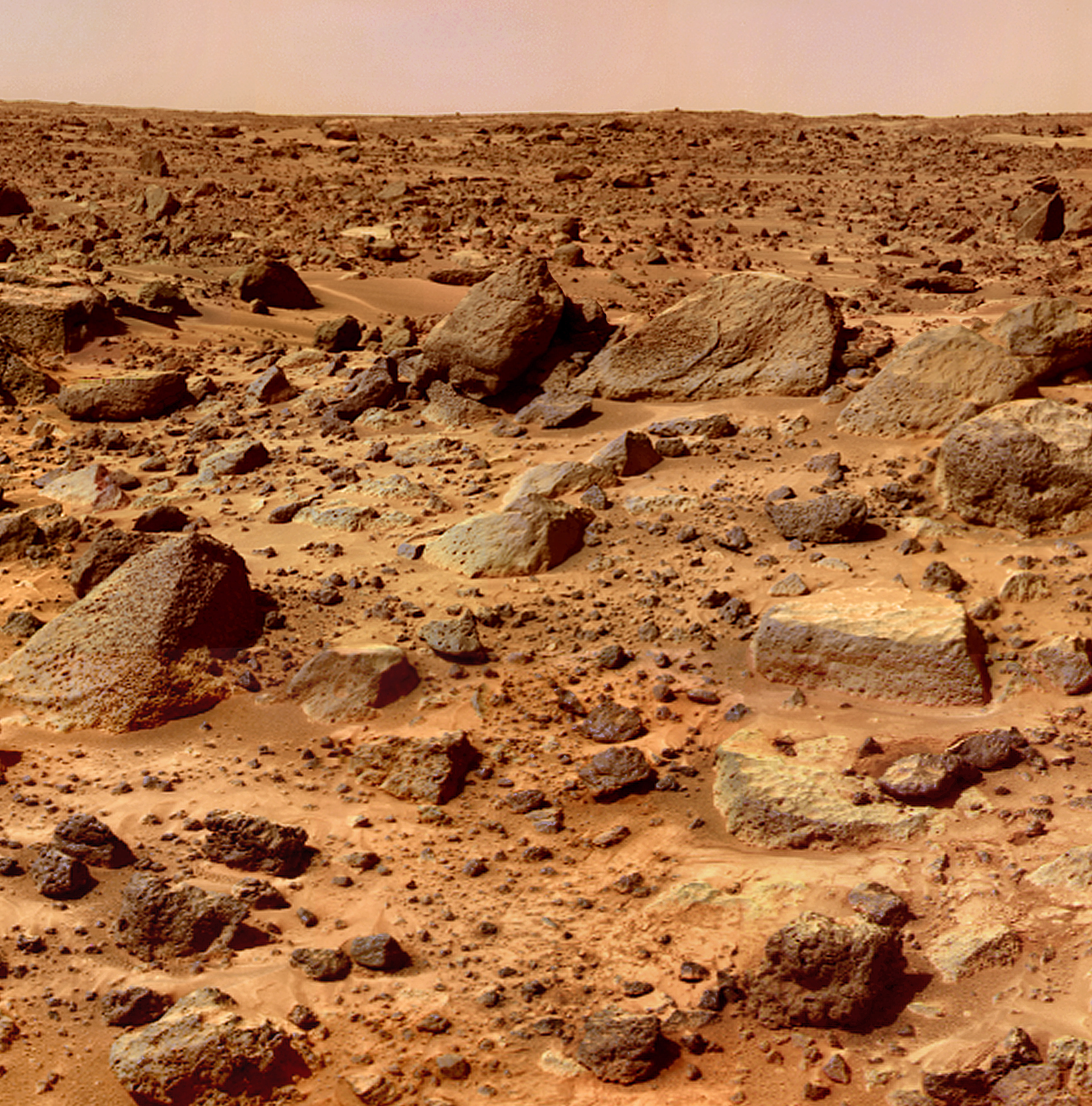 mars simple english the encyclopedia surface rocks everywhere photographed by mars pathfinder