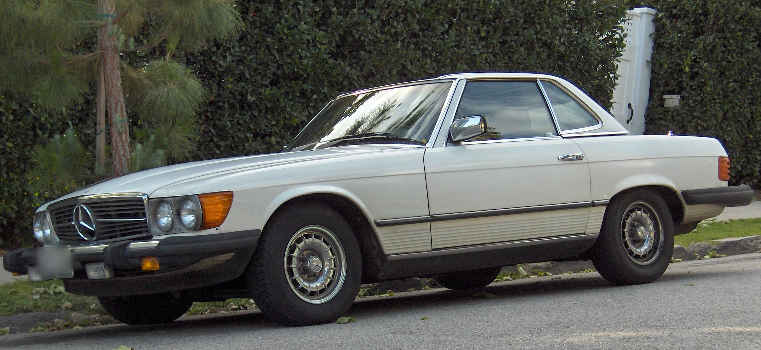 Mercedes Benz History Of Models >> File:Mercedes-Benz 450SL US Model.jpg - Wikimedia Commons
