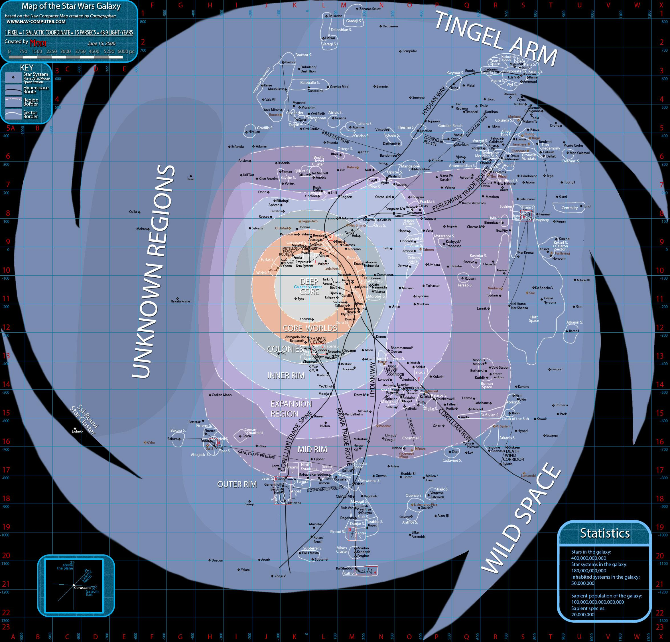 How Many Planets Are There In The Star Wars Universe Quora - Star wars solar system map
