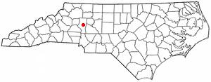 Location of Statesville, North Carolina