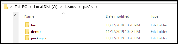 Pas2js Folder