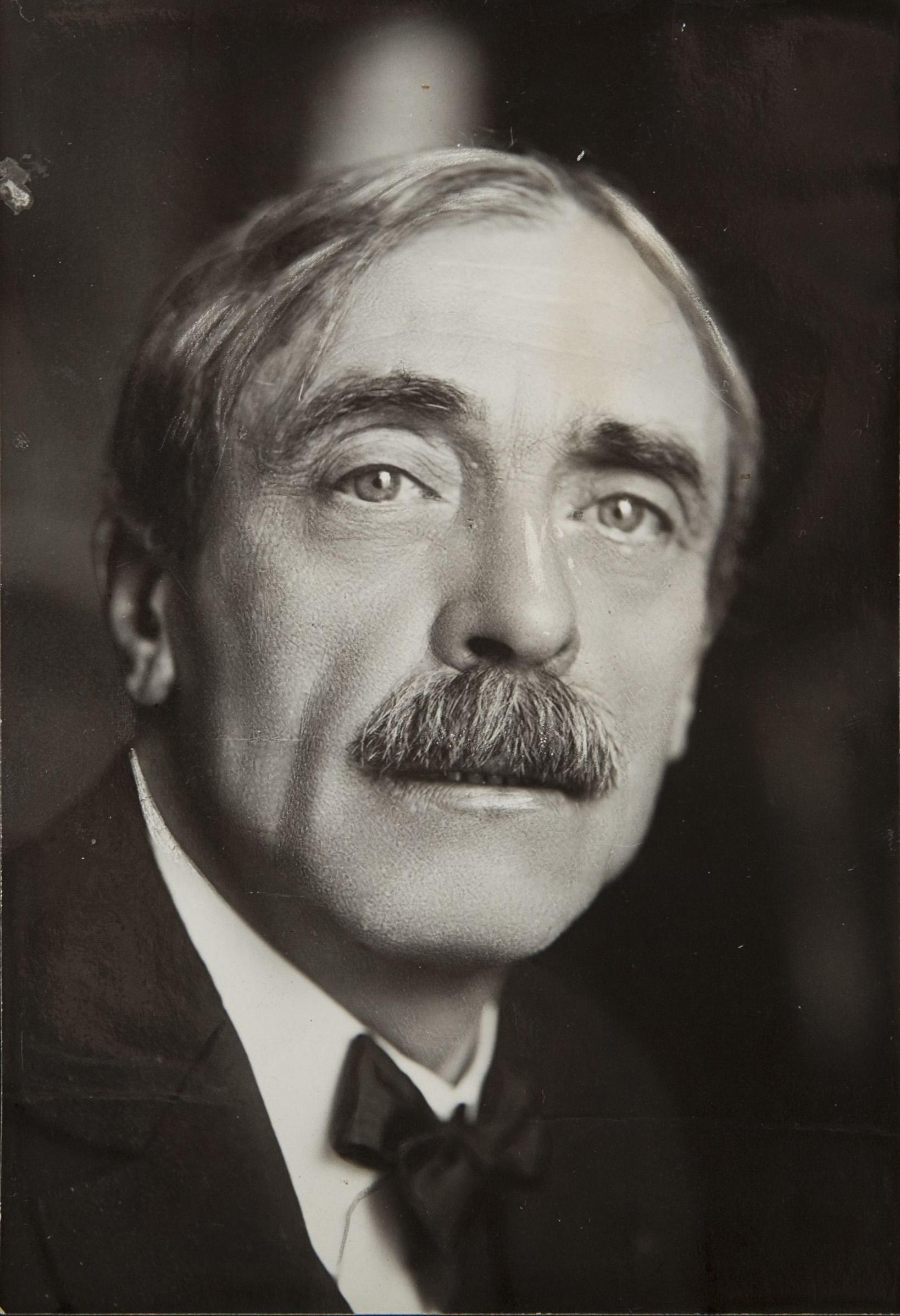 Paul Valéry photographed by [[Henri Manuel]], 1920s.