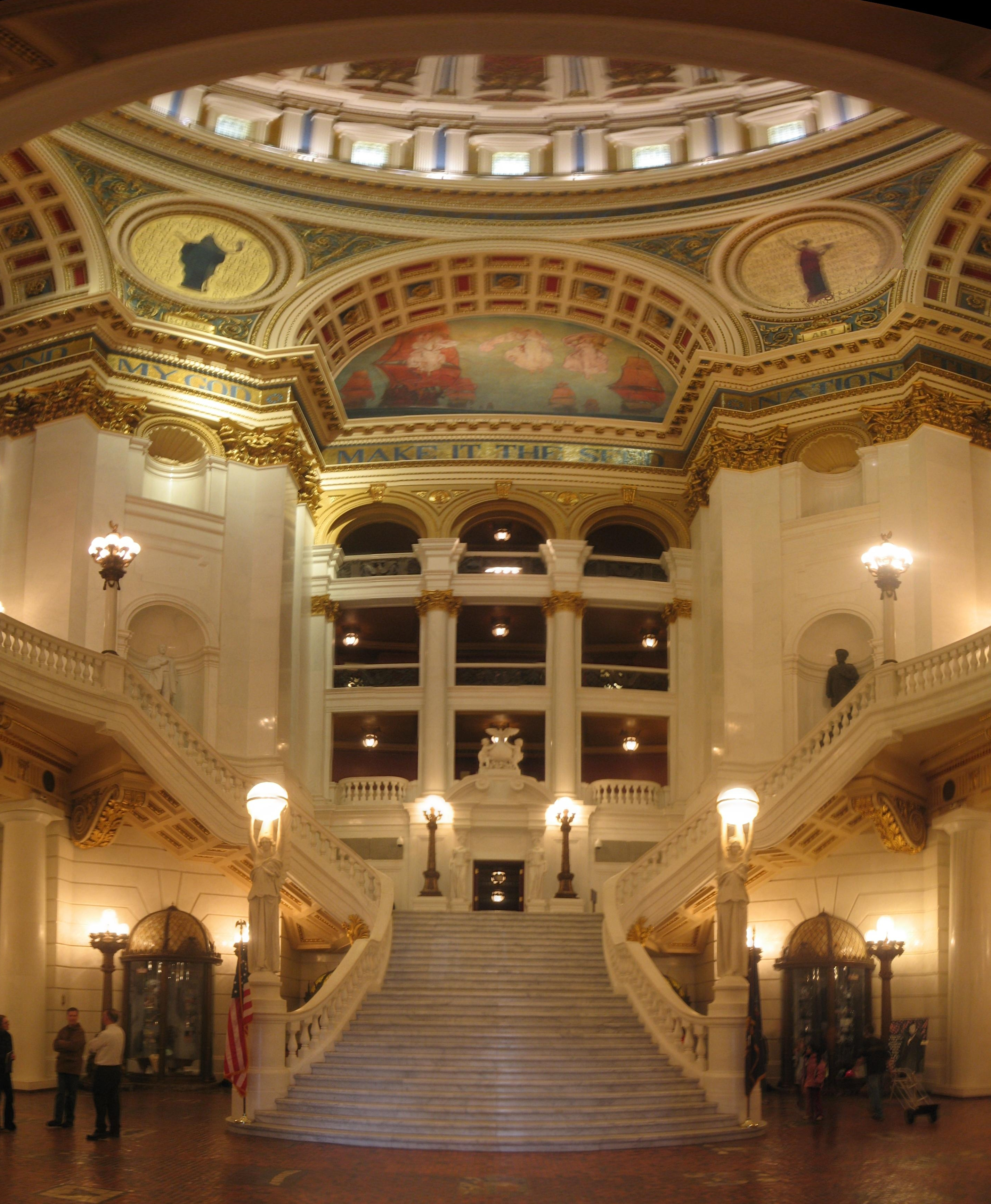 File Pennsylvania State Capitol Staircase Jpg Wikimedia