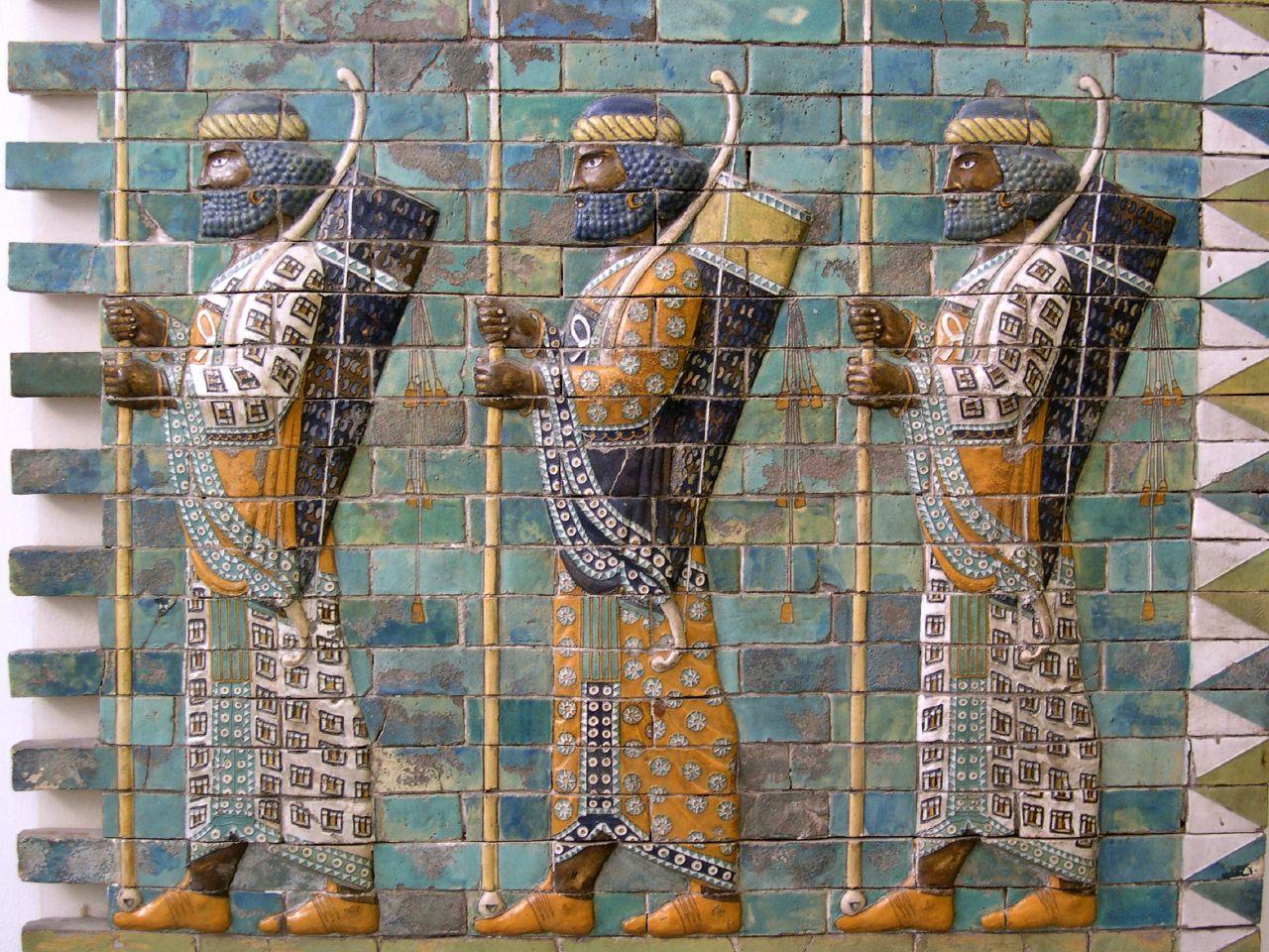 File:Persian warriors from Berlin Museum.jpg - Wikimedia ... Ancient Persian Army