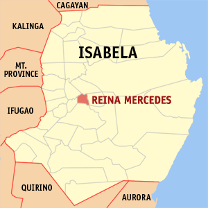 Map of Isabela showing the location of Reina Mercedes