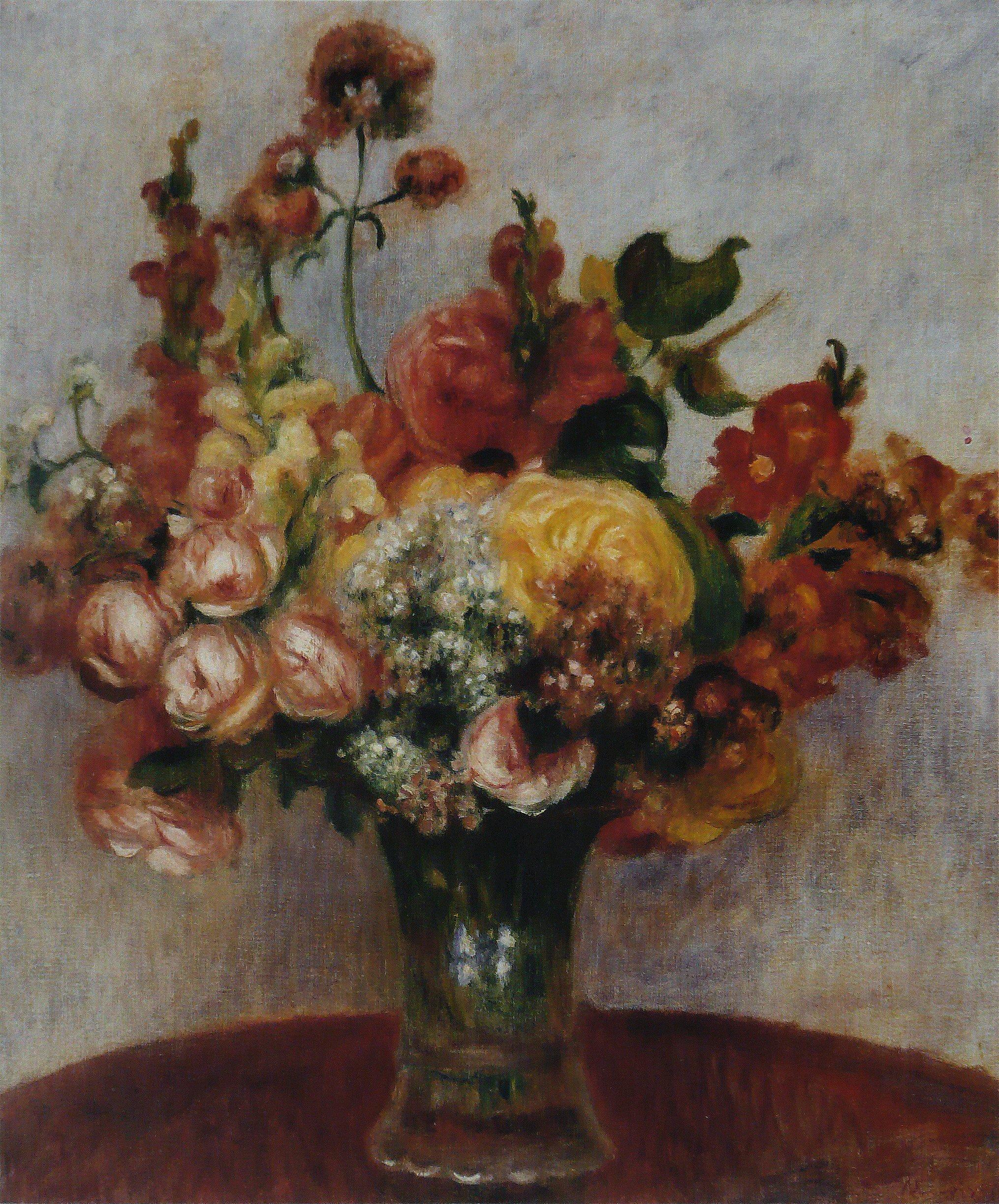 File pierre auguste renoir fleurs dans un vase mus e de for Bouquet de fleurs un