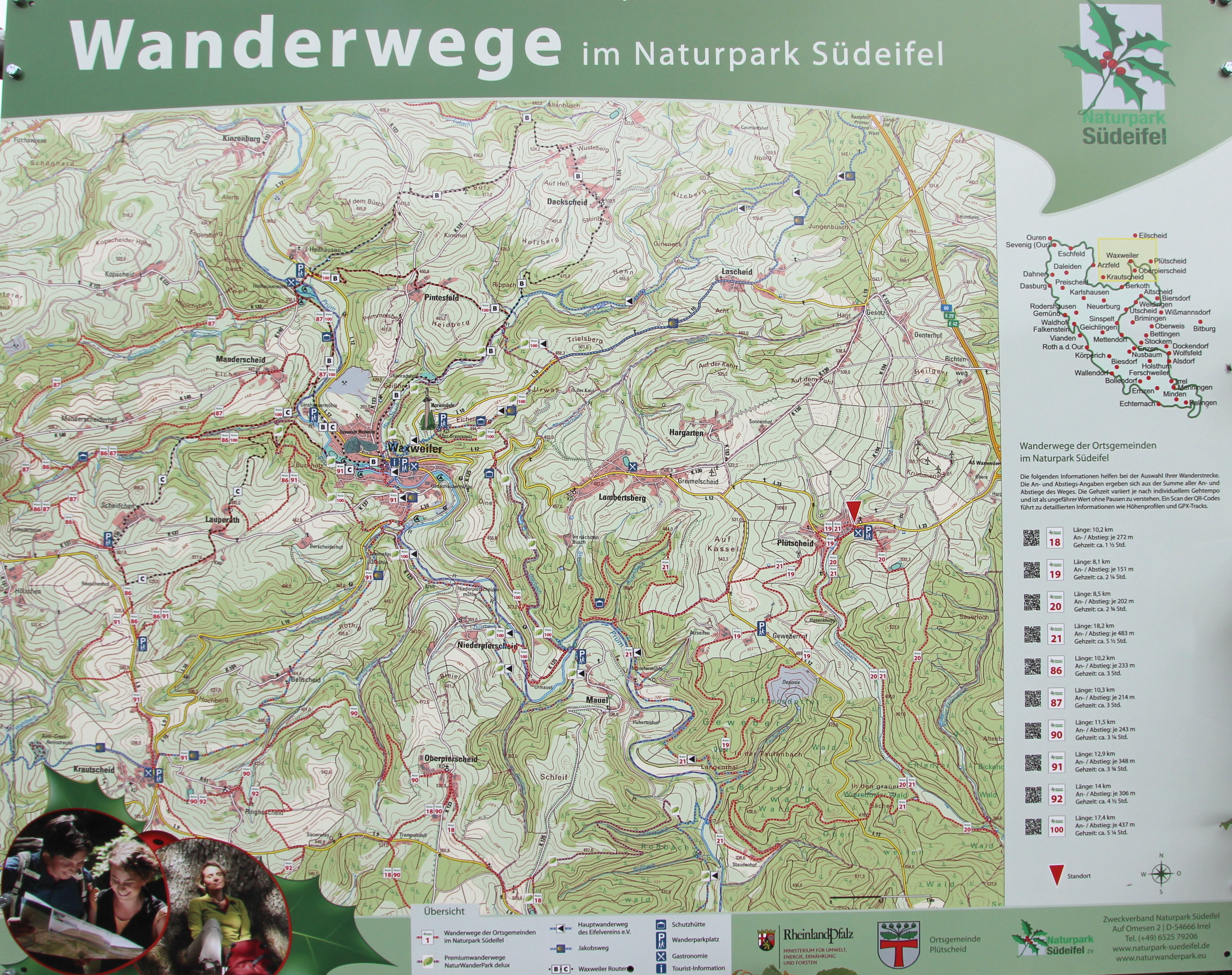 Karte Eifel.File Plütscheid Eifel Karte Wanderwege A Jpg Wikimedia Commons