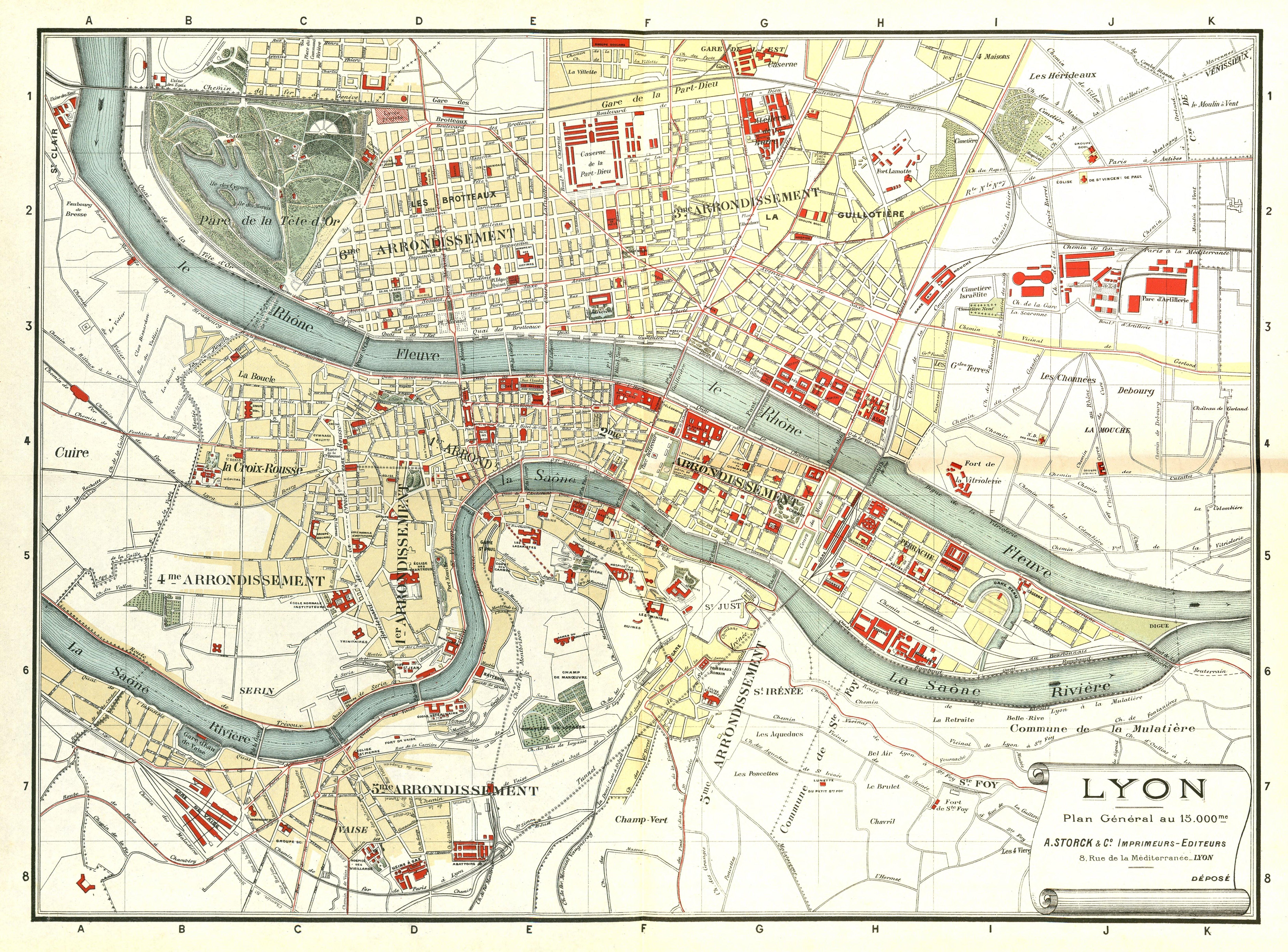 Carte Lyon.File Plan Lyon 1900 Jpg Wikimedia Commons