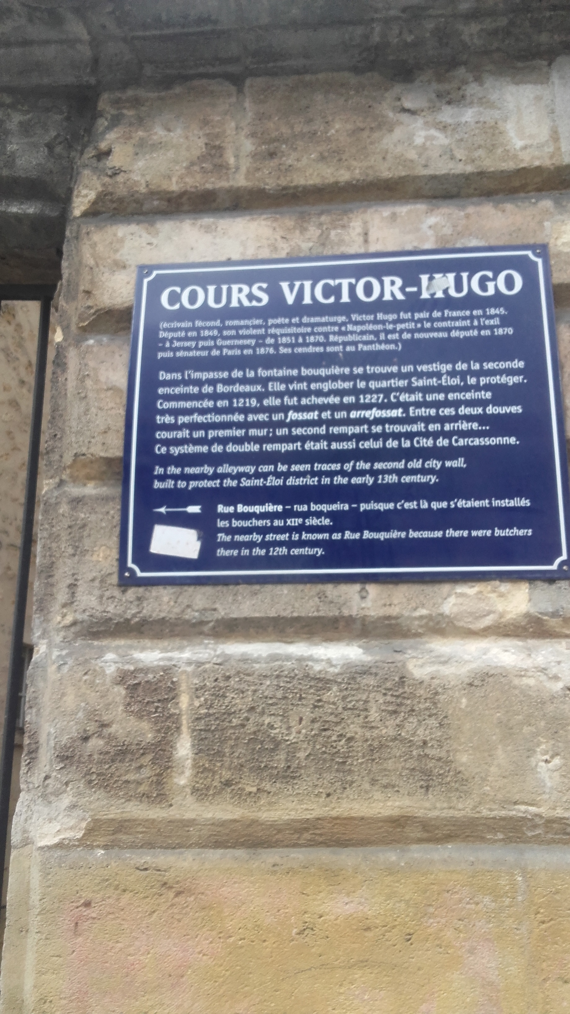 Fileplaque Cours Victor Hugojpg Wikimedia Commons
