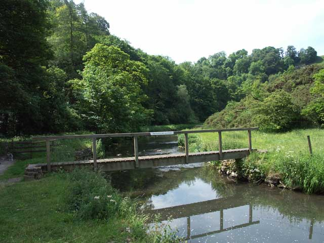 Private footbridge in Milldale - geograph.org.uk - 368925