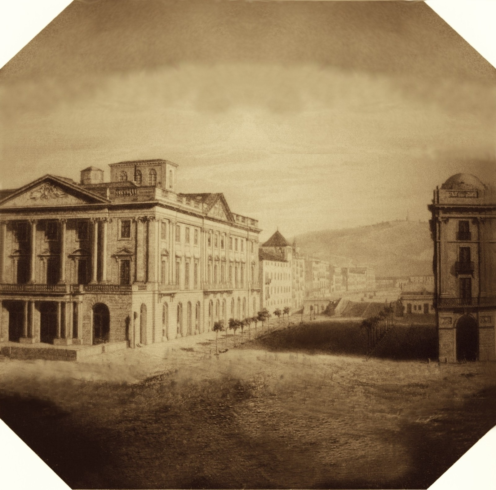 File recreation of 1st daguerreotype in spain 1839 casa - Casas de barcelona ...