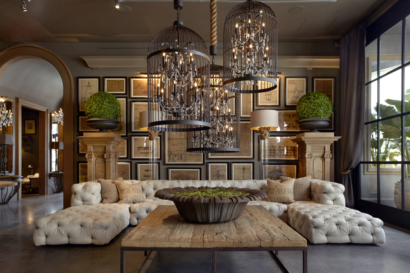 Restoration Hardware Room Divider