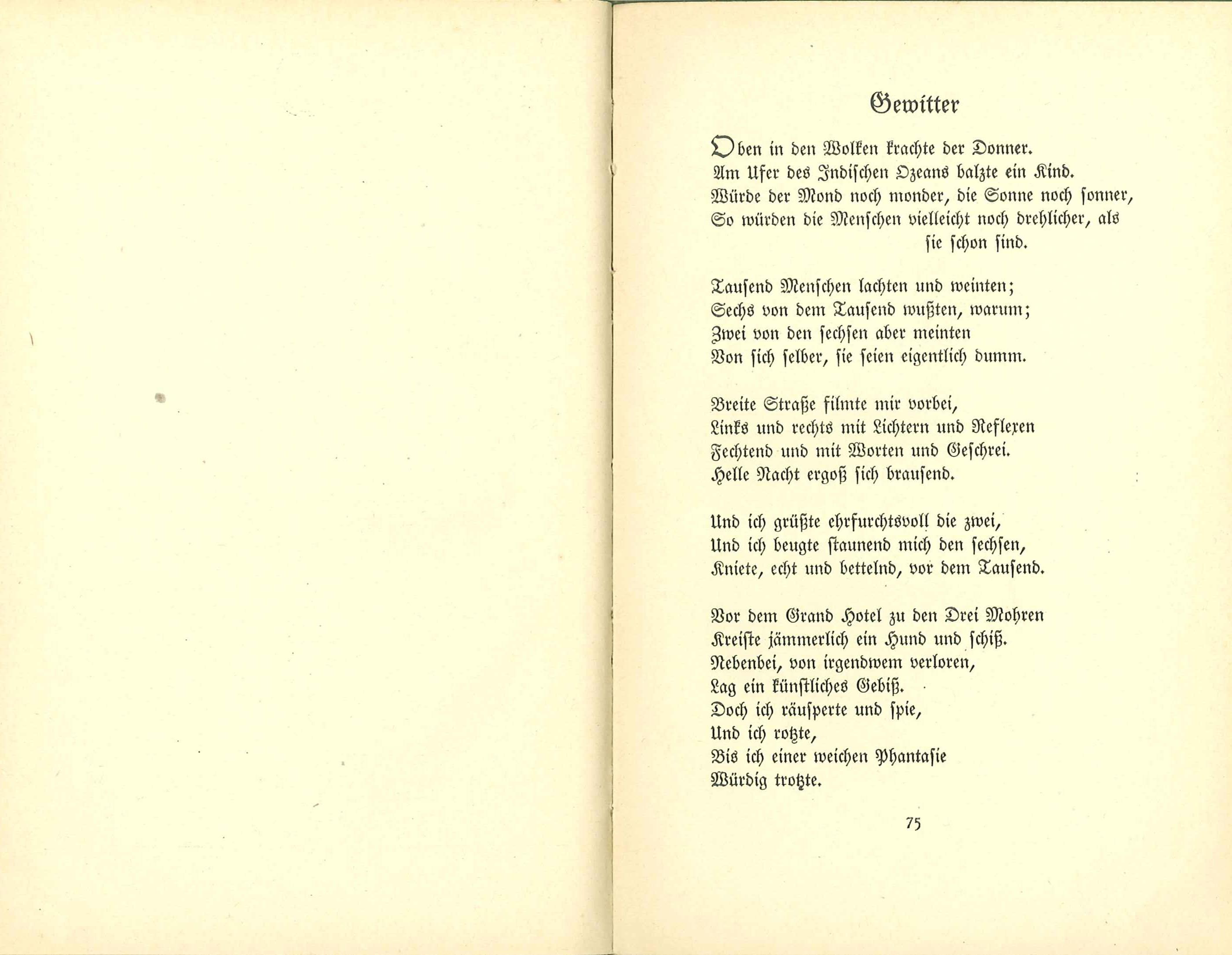 Ringelnatz gedicht mond